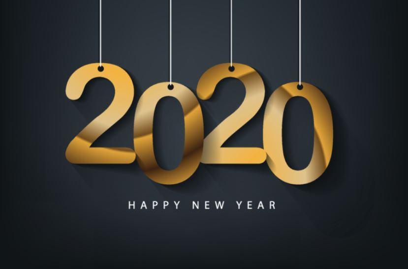 Hình nền Happy New Year 2020 đẹp
