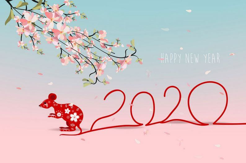 Bộ ảnh nền Happy New Year 2020 đẹp