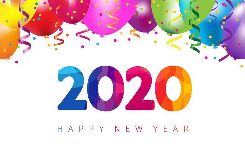 Bộ hình ảnh nền Happy New Year 2020 đẹp