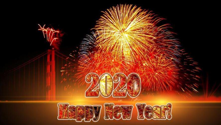 Ảnh nền Happy New Year 2020 đẹp