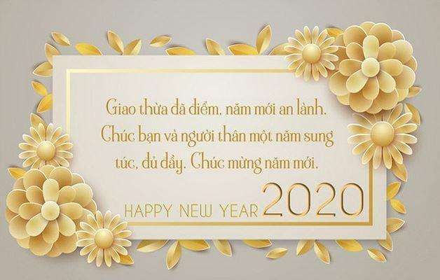 Mẫu thiệp Happy new year 2020