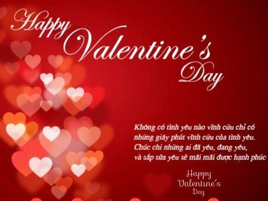 Lời chúc Valentine 14-2 hay cho bạn gái