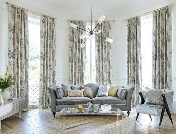 Căn phòng sáng hẳn lên nhờ chọn rèm vải thích hợp