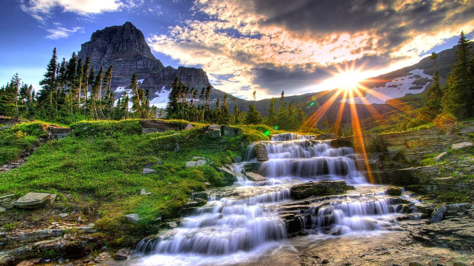 Ảnh bìa đẹp về phong cảnh thiên nhiên lúc chiều tà