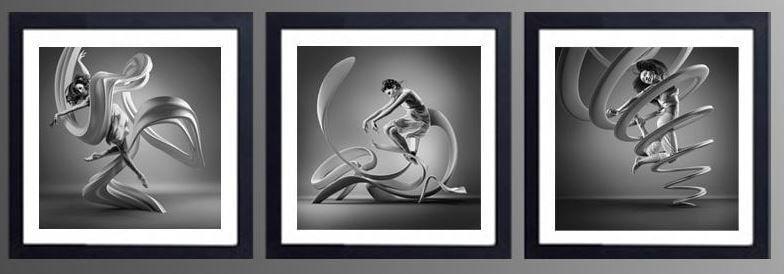 Tranh trắng đen nghệ thuật trừu tượng mang nhiều ý nghĩa khác nhau